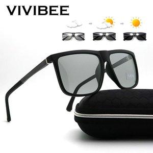 Oversized Photochromic Polarized Sunglasses alluminio Men Square 2020 donne di colore polarizzato Cambiare Sunglass