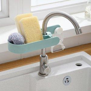 Polka Dot Faucet Storage Rack Household Kitchen Hole-free Rag Sponge Brush Drain Rack Sink Storage Rack