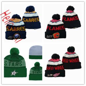 Dallas Stars Шапочки Шапочки Detroit Red Wings Knit Hat Баффало Шапочки Калгари Колпачки один размер подходит для всех