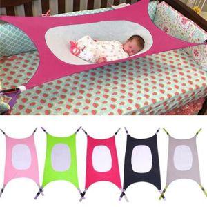 Kid Seguro Dormir Hammock poliéster elástico Scrunchies Hammock Cradle Com ajustável doce cor recém-nascido Berço WY449Q