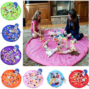 1.5m Kids Play Mat Toys Storage Bags organizer Foldable Round Playing Mat Blanket Rugs Portable Toy Boxes Waterproof Beach Pouch bag 2020