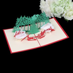 3D Pop Up Handmade Christmas Tree Greeting Card New Year Gifts Best Wishes Gift 634E