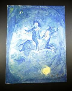 Açık Tuval Wall Art Canvas Resimler 200.604 Boyama atlı 1959 Ev Dekorasyonu Handpainted Yağı üzerinde bir rakam ile Marc Chagall Boyama Sanatı
