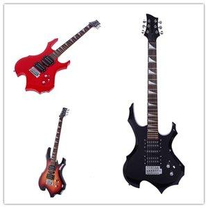 Novice flamme en forme de guitare électrique Kit de ramassage Sac Clé à sangle Paddle outil 3 couleurs AMÉRICAINES