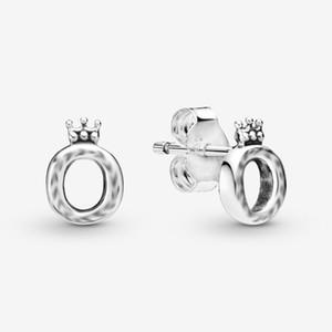 925 Gümüş Geometrik Çember Kare Üçgen Stud Küpe Taç O Stud EarringFor Kadınlar Takı Oorbellen Cilalı