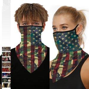 Amerikan Bayrağı Desen Maskeler Eşarp Unisex Bandana Motosiklet Eşarplar Başörtüsü Boyun Yüz Açık Bisiklet Kafa CCA12106 50pcs Maske