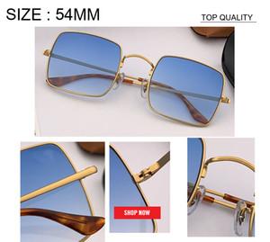 gafas nueva llegada Gradiente cuadrado rosado Sombras UV400 1971 gafas de sol de la marca de fábrica mujeres del diseñador de la vendimia Hombre de la manera Gafas de sol Gafas de So