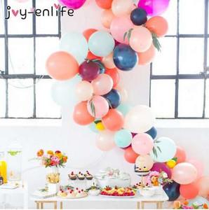 Радость-ENLIFE 5 м пластиковый воздушный шар цепи 410 отверстия ПВХ резиновые Свадьба День рождения воздушные шары фон декор воздушный шар цепи арка декор