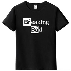 Men t shirts Walter White Tops's Tees & Polos's Clothing Cotton ONeck Heisenberg Tshirt Short Sleeve Casual Breaking Bad Print T Shirt For M