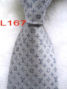 L-167 # 100% seda jacquard tejida hecha a mano de los hombres de la corbata del lazo