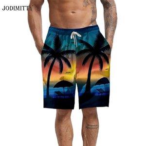 Jodimitty Mens 3D Imprimir Shorts Fasion Natação Praia Shorts Trunks Casual Calças Piscina Boardshorts Verão Cordão Swimsuit