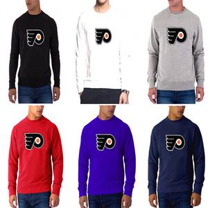 Nova temporada dos homens Philadelphia Flyers Qualquer Nome Qualquer Número Dassler vermelho Climalite Desempenho Longo Da Luva do Raglan hóquei T-Shirt