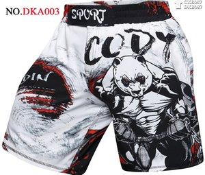 NUEVA UFC BJJ MMA de los nuevos hombres de impresión en 3D pantalón corto deportivo transpirable de secado rápido Hombres GYM Pantalones Relax Extender compresión Marca Cody Lundin