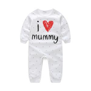 Hot infantil bonito recém-nascido Criança Bebê Meninos Meninas Crianças Romper terno Baby, eu amo o paizinho Mummy corpo Jumpsuit Outfit Roupas Set