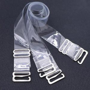 1 Paar Silikon hohen elastischen Schultergurt bra transparent reiz Schultergurt dicken rutschfeste Unterwäsche W0002