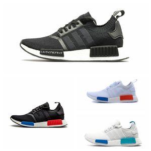 2020 En İyi Kalite NMD R1 Primeknit Runner İçin Erkekler Kadınlar Koşu Ayakkabı OG Yayın Üçlü Siyah Tasarımcı Spor Sneakers