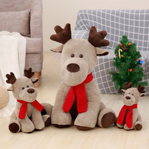 Cute Christmas 28cm Elk Doll Plush Toy Christmas Child Doll Xmas Gifts for Girls