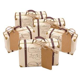 مصغرة حقيبة الإحسان صندوق كاندي هدية حقيبة خمر كرافت ورقة مع الكلمات الخيش البرمة ل سفر الزفاف تحت عنوان حفل زفاف دش الديكور