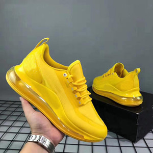 Los zapatos deportivos zapatillas de deporte diseñador Rojo Negro Amarillo de los nuevos hombres de la tercera generación de los calzados informales de los zapatos corrientes de suela elástica de alta calidad caliente 40-45