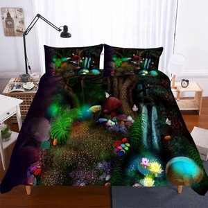 BEST.WENSDL09 Quality Super soft Unicorn Bedding Cartoon Duvet Cover set 3D Dinosaur World bed set 2 3pcs Twin kids bedding