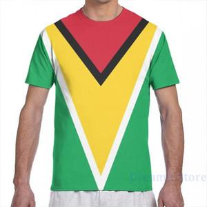 Guyana National Flag uomo T-shirt donne di tutto della stampa della ragazza di modo maglietta del ragazzo supera i T magliette manica corta