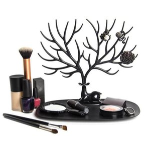 Black Deer Earrings Necklace Ring Pendant Bracelet Jewelry Display Stand Tray Tree Storage Jewelry Organizer Holder Show Rack Showing Shelf
