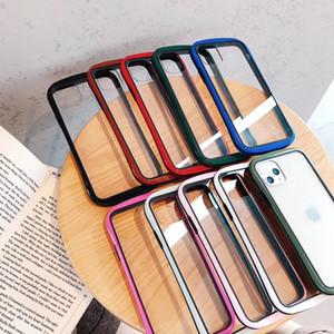 Luxo cintura fina telefone capa para iphone 11 Pro caso Max transparente acrílica Backplane Cover for Huawei mate20 P30 P30pro caso Capa