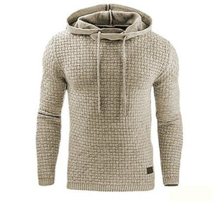 Del diseñador del Mens Pullover Fleece con capucha Hoddies de manga larga de color sólido Homme ropa de moda de longitud regular la ropa ocasional