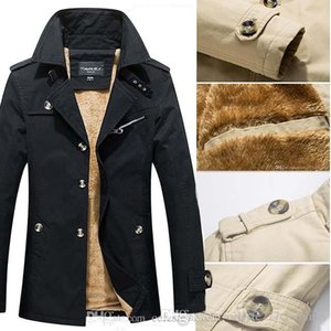 Mens Trench Coat suit Lapel spring fashion Thick fuax wool coat cappotto trench coat Manteau d'hiver hommes outwear 3 styles plus size