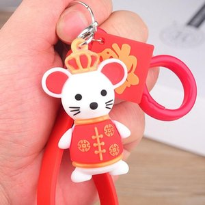Mouse Key Chain For Women Funny Rat Keyring Accessories Car Keychain Trinket Charm New Year Gifts