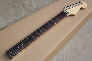 Factory Custom 6 Strings Maple Electric Guitar Neck with Chrome Tuners,Rosewood Fingerboard,22 Frets,Can be customized as request