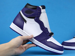1 Retro High Court Purple White 1s basketball Shoes with COURT PURPLE WHITE BLACK AJ1H-CP designer trainers Schuhe basketball sneakers mens