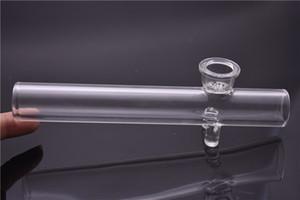 BIG vetro rullo vapore rullo cucchiaio tubo 7 pollici 4mm spessore mano tabacco cucchiaio Tubo per secco tubo olio Herb bruciatore con fiocco di neve ciotola