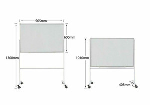 """36"""" x 24"""" Dry Erase Board supporto magnetico Double Sided Lavagna rotolamento Ruote"""