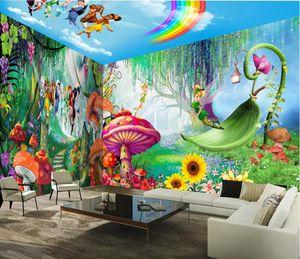 خلفيات الحديثة مخصص صور 3D Hd جدارية جدارية العفريت الفتيان والفتيات للجدران للأطفال غرفة نوم 3D جدارية الجامع البيت