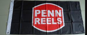 free shipping penn reels flag, corpenn reels banner,90X150CM size,100% polyster