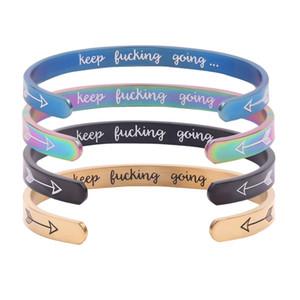 Putain Going Lettre Keep Bracelet Fashion Bracelet personnalisé Sous-catégorie Métal Bracelets Inspirational Party Festival de cadeaux TTA1526-6