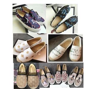 2019 loafer'lar deri lüks DoubleGslip espadrilles ayakkabı Deri boyutu 35-41 abd boyutu us5-us8 2019 Rahat Ayakkabılar yıldız baskı