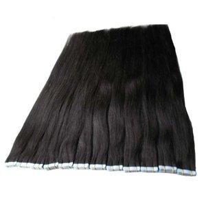 인간의 머리카락 확장에 테이프 10 ~ 24 인치 40pcs 100g / 팩 실키 스트레이트 테이프 PU 원활한 피부 Weft