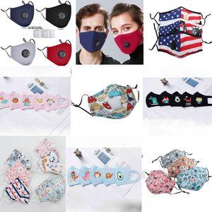 Маске многоразовый Face Mask Cotton faceshield черный рот маски против пыли маска Угольный фильтр ветрозащитный Рот дизайнер маски для лица маски