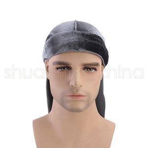 Мода унисекс бархат бандана сплошной цвет пиратские парики шапки творческий открытый Велоспорт тюрбан головные уборы аксессуары для волос TTA1589