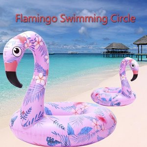 Water Sport Inflatable Flamingo Pool Floats Tube Raft Swimming Ring Circle Water Bed Adults Party Toys Dumbbells
