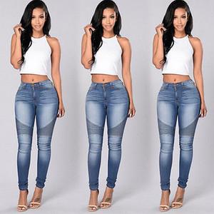 Kommen 2017 neue Herbst-reizvolle Frauen-Denim-dünne Hosen mit hoher Taille Stretch Jeans-dünne Bleistifthose