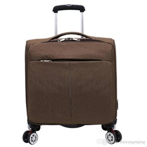 Waterproof Oxford Cloth 18 Inch Luggage Bag Trolley Travel Suitcase with Aluminum Rod Spinner Wheels Carry-ons Men Woen Baggage Bags