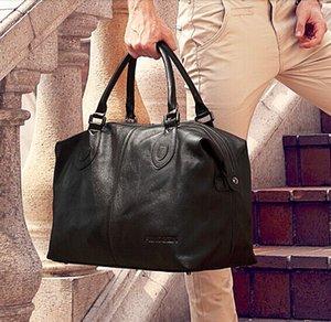 Carry Overnight Leather Tote Travel Bag Men Men Luggage Fashion Leather Genuine Bag Duffel Weekend Big On Handbag Black Klgif