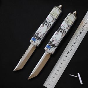 Miker Taktik bıçak D2 çelik bıçak Alüminyum kolu açık kamp av bıçağı Survival dişli EDC çakı Yardımcı araçlar hediye bıçaklar