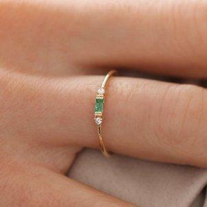 20200415 Rose ouro zircão anel de acoplamento banhados a ouro