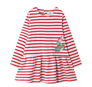 Girls Dress New Girl Cute Children Party Stripe Dresses Fashion Spring Clothes Princess Clothing