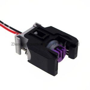 Freeshipping 10 PCS 2Pin Авто топлива Распылительная насадка / масло Распылитель штекер с кабелем, Автомобильный дизельный инжектор с общим распределителем зажигания для соединителя Delphi