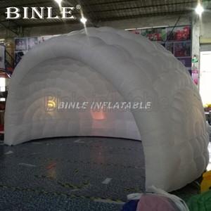 Popolare 5.5mW aria tenda a cupola gonfiabile con luci led colorate bianco mezzo gonfiabile edificio a cupola casa cupola gonfiabile per l'evento